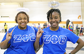 Zeta Phi Beta girls